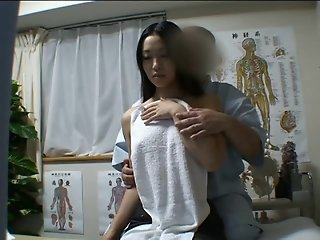 Japanese angel massaged and..