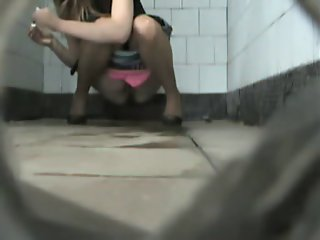 Public toilet cam caught the..