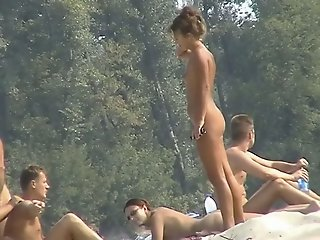 Hidden cam beach scenes..