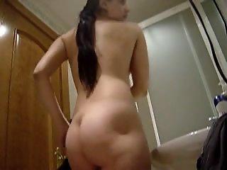 Shaggy washroom voyeur