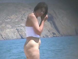 Hot mature beach nudist..
