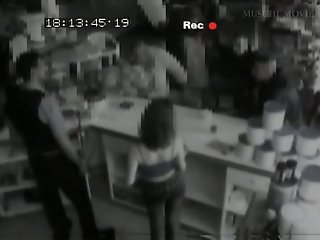 Security cam footage of a..