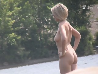 Nude beach video starring..