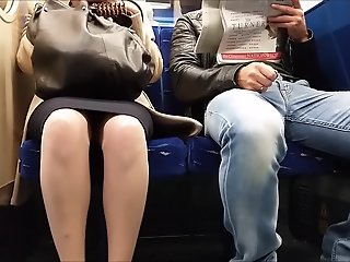 Morning Upskirt on Train