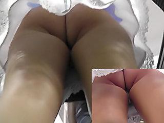 Tasty brunette doll's ass in..