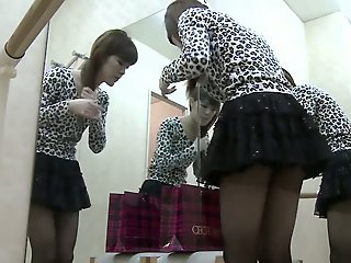 Amateur dressing room sex..