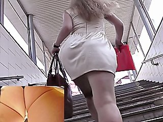 Public transport spy upskirt..