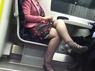 Candid Sexy Crossed Legs 8...