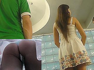 Attractive ass in upskirt..