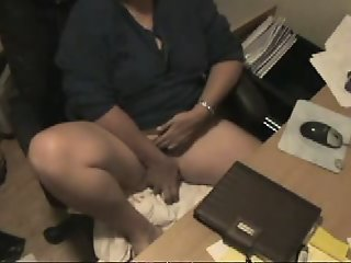 Fat wife plays hard in a..