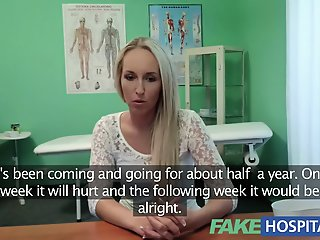 Blond womans headache cured..