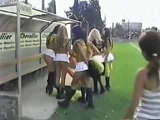 Cheerleader bitches in..