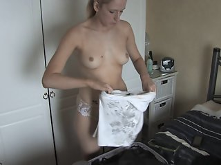 Great down blouse small tits..