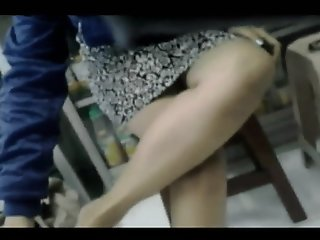 Black Panty Upskirt at Ban..
