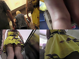 Thong upskirt footage of a..