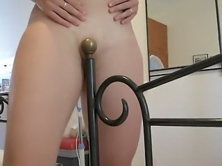 Fucking her bed post