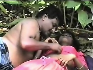 Sexy Indian honey in jungle
