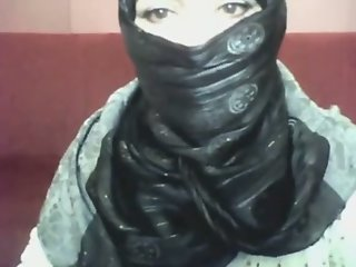 Bored arab hotty in hijab..