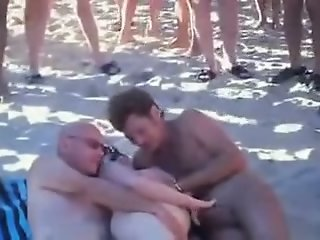 Wife sharing at the beach