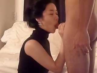 Asian wife blowjob and fuck..