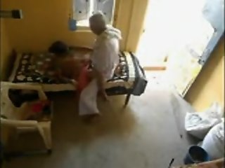 Horny old indian guy banging..