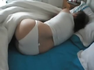 White panties and long toys
