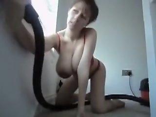 Saggy tits mature vacuum home