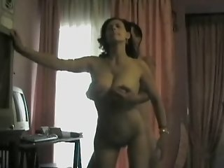 Busty wife screwed from behind