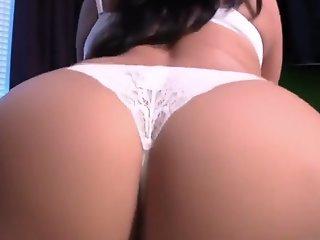 Reverse cowgirl creampie sex