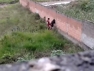 Teen couple caught fucking..