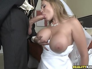 Sexy bride Alanah Rae cheats..