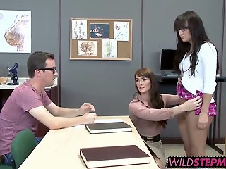 MILF teacher helps out..