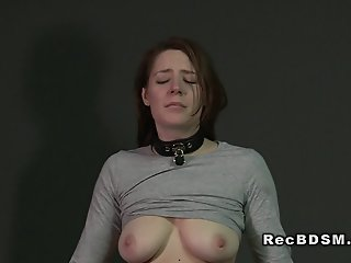 Busty sub anal banged till..