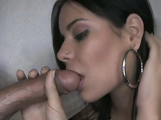 Beautiful girl sucking and..