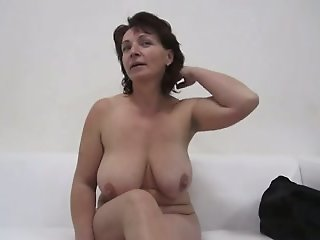 Brunette mature gets..