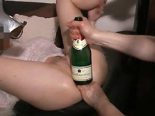 Big bottle up the slutty wet..
