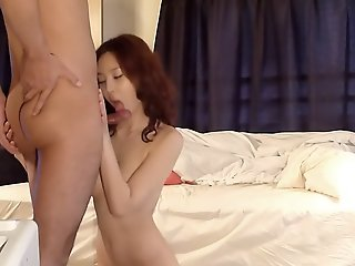 Japanese chick seduces him..