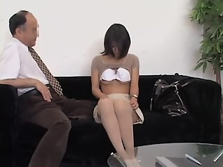 Curvy Jap nailed hard in spy..