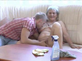 Granny gets massage vagina