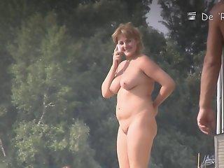 Gorgeous women sunbathes..