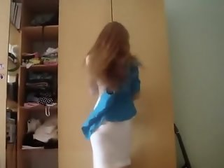 So sexy blonde wife make..