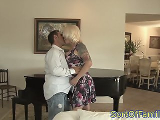 Busty mom in law fucked in..
