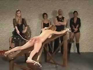 Brunette slave girl gives..