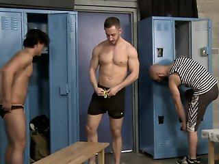 Strong guys banging each..