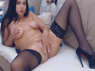 Pretty hot slut chick strips..