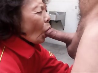 Granny loves sucking cock..