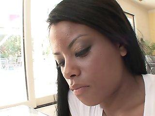 Hot ebony with juicy tits..