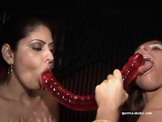 2 hot girls heavily fucked..