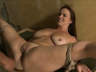 milf is tied up and fucked