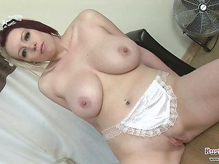 Busty Maid Lilly Pink Shows..